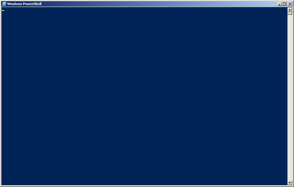 A interface padrão do powershell. Telinha preta, nunca mais! Será mesmo!?